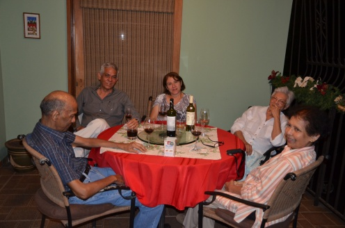 After dinner drinks with Tio Pablito, my dad, Mayra, Tia Aleyda, and Titia