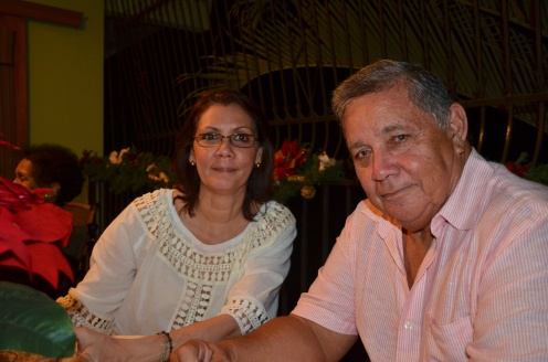 My cousin Marcela and her husband Rolito.