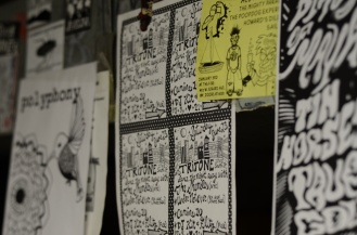 flyers on the wall