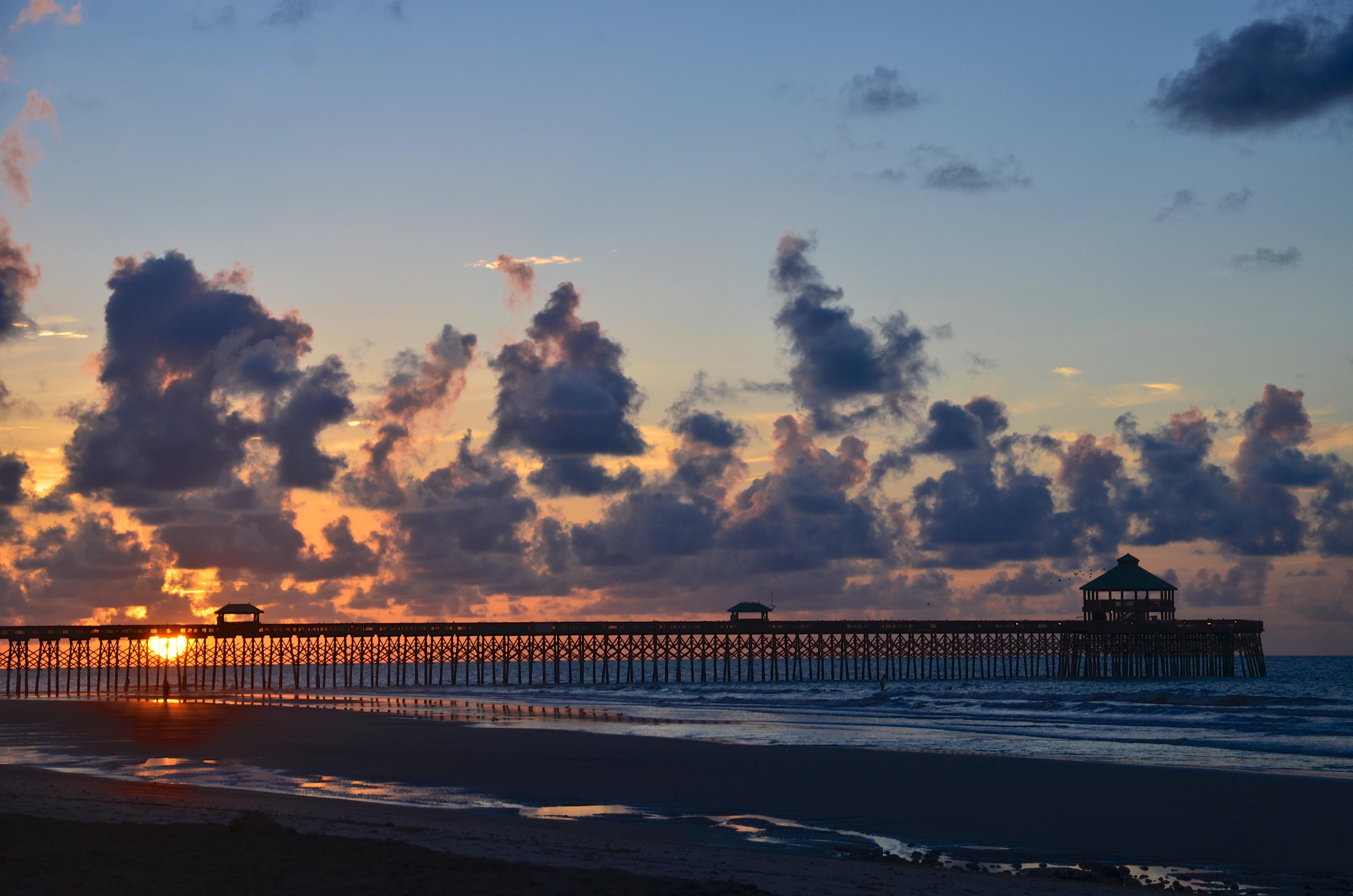 The pier on Folly Beach, South Carolina