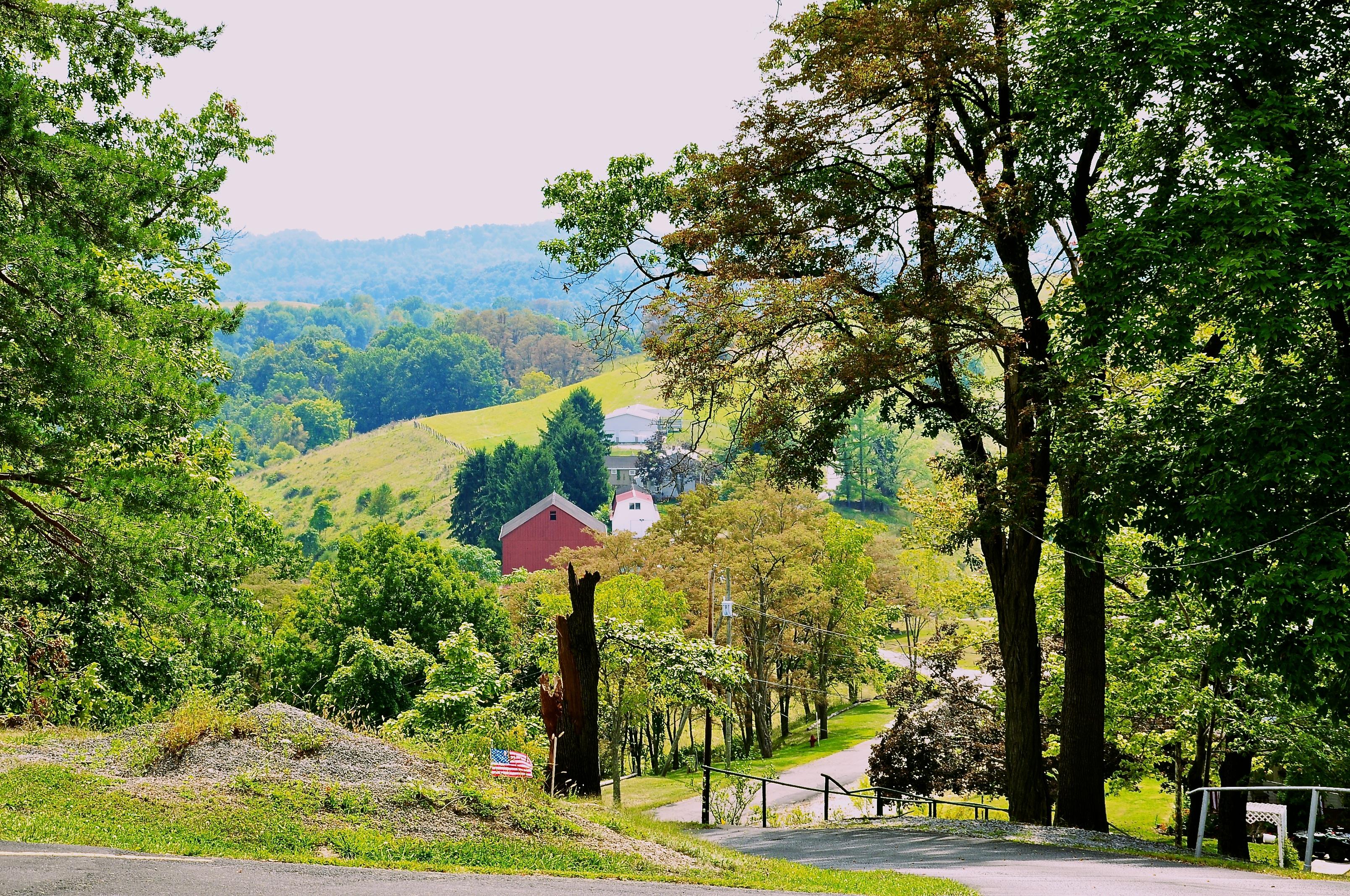 Scenic landscape in West Virginia