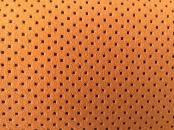 Orange leather on the seats.