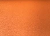 Orange leather seats.