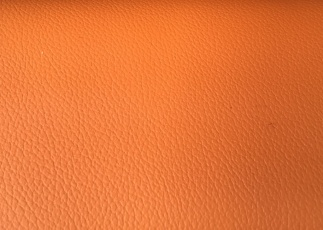 Orange leather seats.