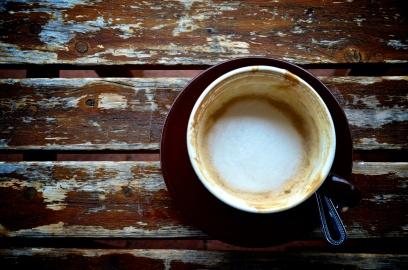 Empty cup; Fredericksburg, Virginia
